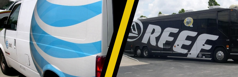 Fleet Graphics Installation - Reef & AT&T Vehicles